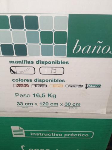 Estanterias Para Baños Mercado Libre:Mueble Para Baño Blanco Marca Casa Lista Estanteria Vertical – Bs 35