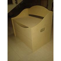 Caja, Organizador Juguetes, Ropa, Utiles, En Mdf Crudo