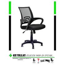 Silla Ejecutiva Ergonomica Trendy,oficina, Negra Base Nylon