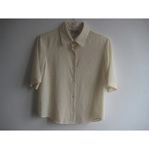 Camisa/ Blusa Chifon Talla 12 (fabricada En Thailandia)