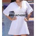 Ropa Playera - Hindu Vestido-bluson Blanco 059