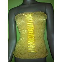 Corset Top Blusa De Vestir Para Dama. Espectaculares!!