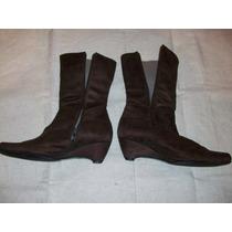 Zapatos Botas Donky Cuero Gamuzado 36 Pocouso Bien.c Verdesc
