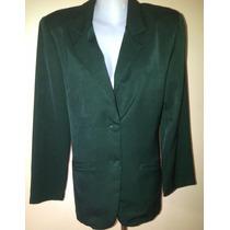 Blazer Chaqueta Verde De Vestir Tipo Ejecutivo Dama