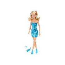 Barbie Glitz Vestido Brillante Azul Muñecas Original Mattel