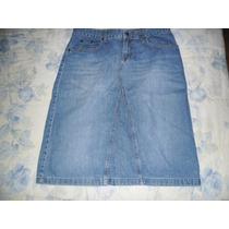 Falda De Blue Jean Marca Zara Basic Talla 30/10