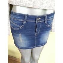 Mini Falda Jeans Benetton Talla S 100% Original
