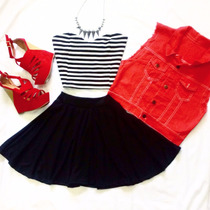 Chalecos De Colores (negro, Blanco, Fucsia, Rojo, Azul)