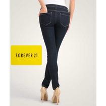 Pantalon Skinny Forever 21 Color Azul Marino Talla 26 Panama