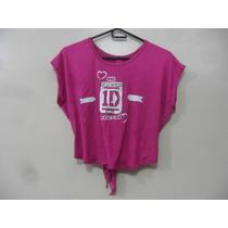 Blusa Camisa One Direction Artistas Online Talla: S Magenta