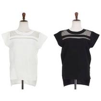 Bellisima Blusa Con Transparencia Talla S Color Blanco