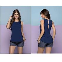 Blusas De Vestir Elegantes En Tela De Chifon Talla S,m.l