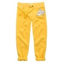 Pantalon Mono Capri Amarillo Talla L Areopostale Original!!!