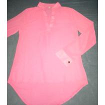 Blusa De Chifon Rosada Cuello V 4169720591