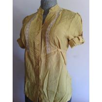 Camisa De Vestir Mangas 3/4 De Damas