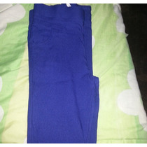 Pantalon Tubito Corte Alto Talla S Azul Rey.