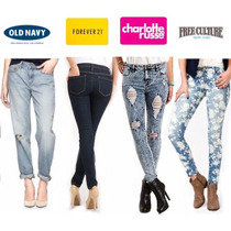 Jeans Altos Forever21 -free Culture - Old Navy- Dama