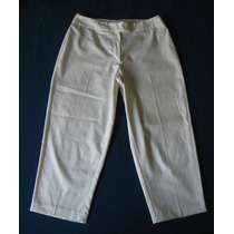 Pantalon De Vestir Ó Casual Escarchado 3/4 Dama Talla 10