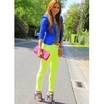 Pantalones De Colores Neon Tipo Jeans Importados De Los E.u