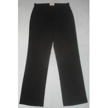 Pantalón Negro Elegante Dama Talla L / 12 /44 Mujer Gorditas