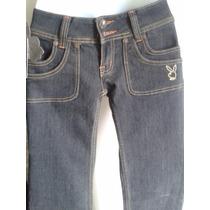 Pantalón Blue Jeans De Dama - Negro - Talla 7/8