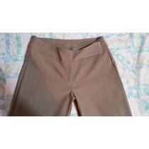 Bello Pantalon De Vestir Para Dama Color Kaqui Talla L