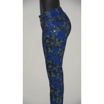 Pantalon Blue Jeans Estampado Dama. Studio F,talla 8