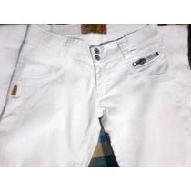 Pantalón Jean Stretch Blanco Para Dama Marca Pin Joys