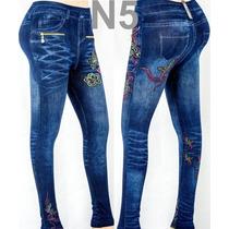Leggins Faja Dama Pantalon Jean Americano Moda
