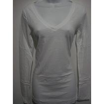 Camisa Manga Larga Aeropostale Blanca Color Blanco Talla L
