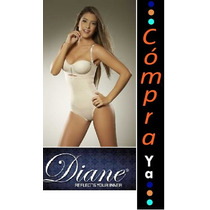 Body Faja Reductora Diane Topless Tallas Plus Xl, Xxl, Xxxl