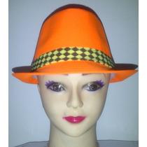 Sombrero Estilo Borsalino, Multiuso, Colores Neones.unicolor