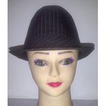 Sombrero Estilo Borsalino, Multiuso, Tela A Rayas, Unicolor