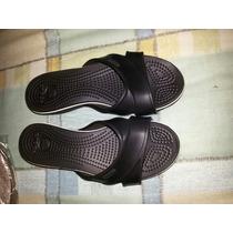 Sandalias Tipo Cholitas Crocs Negras 35-36 O W6