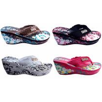 Sandalias Plásticas Para Damas Múlticolór, Playeras