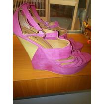Zapatos Plataformas Fucsia Qupid