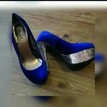 Zapatos De Plataforma Azul Marino