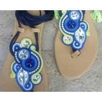 Sandalias Decoradas Con Soutache Para Dama Y Niña