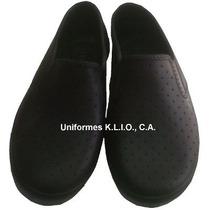 Zapatos Suecos De Goma Tallas 36 A 44 Negros Y Blanco