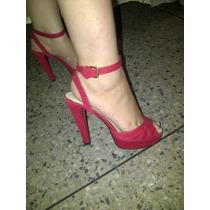 Sandalias O Zapatos De Tacon Dama Rojas