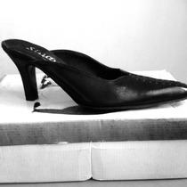 Sandalias Tipo Botín Destalonadas Negras Talla 36