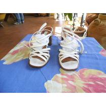 Sandalias Blancas De Tiritas Cruzadas Nº 38