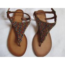 Sandalias Para Damas Con Pedreria Talla 37.5