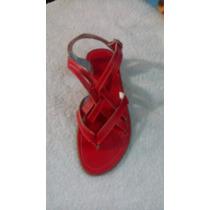 Sandalias Para Dama Color Roja Talla 36