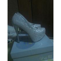 Zapatos De Dama Brillantes Talla 36 Y Medio. Nuevos