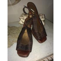 Lindos Zapatos Marrones En Animal Print Talla 39