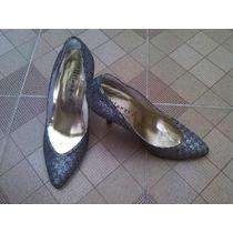Zapatos Con Escarcha De Tacón Marca Milange