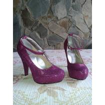 Zapatos De Tacon Escarchados