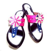 Sandalias De Dama En Cuero Diseño Y Comodida.!!