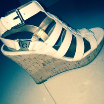 Espectacular Sandalias Guess Originales Traidas De Usa